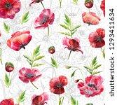 a seamless pattern design... | Shutterstock . vector #1293411634