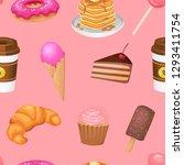 candy  sweetss menu seamless... | Shutterstock .eps vector #1293411754