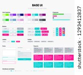 ui kit in trendy bright colors