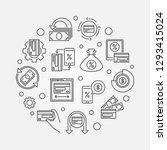 cash back linear round minimal... | Shutterstock .eps vector #1293415024