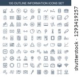 100 information icons. trendy... | Shutterstock .eps vector #1293419257