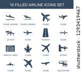 airline icons. trendy 16... | Shutterstock .eps vector #1293419467