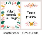 inspirational greeting card or... | Shutterstock .eps vector #1293419581