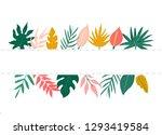trendy summer tropical leaves... | Shutterstock .eps vector #1293419584