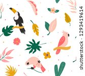 tropical seamless pattern with... | Shutterstock .eps vector #1293419614