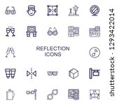 editable 22 reflection icons... | Shutterstock .eps vector #1293422014