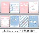 set of baby shower invitations... | Shutterstock .eps vector #1293427081