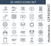 video icons. trendy 25 video... | Shutterstock .eps vector #1293428437