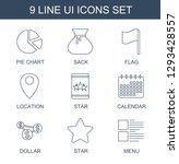 ui icons. trendy 9 ui icons....