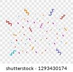 colorful bright confetti...   Shutterstock .eps vector #1293430174
