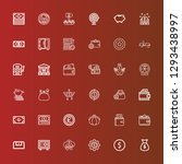 editable 36 wealth icons for... | Shutterstock .eps vector #1293438997