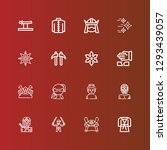editable 16 martial icons for... | Shutterstock .eps vector #1293439057