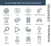16 reflection icons. trendy... | Shutterstock .eps vector #1293439381