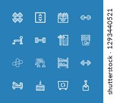 editable 16 lifting icons for... | Shutterstock .eps vector #1293440521
