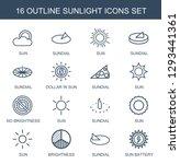 sunlight icons. trendy 16...   Shutterstock .eps vector #1293441361