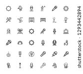 editable 36 sing icons for web... | Shutterstock .eps vector #1293442894