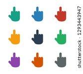 middle finger icon white... | Shutterstock .eps vector #1293443947