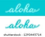 hand drawn vector lettering...   Shutterstock .eps vector #1293445714