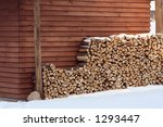 A Woodpile Near The Wall