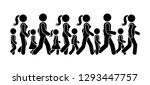 stick figure walking group of... | Shutterstock .eps vector #1293447757
