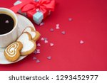love  valentine's day. cup of... | Shutterstock . vector #1293452977