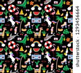 seamless summer pattern with... | Shutterstock .eps vector #1293456664