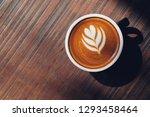 a coffee latte with latte art... | Shutterstock . vector #1293458464
