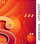 gradient abstract composition... | Shutterstock .eps vector #1293462547