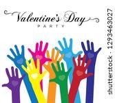 typography  valentine's day... | Shutterstock .eps vector #1293463027