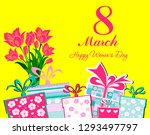 postcard to march 8  with... | Shutterstock . vector #1293497797