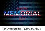 happy memorial day background.... | Shutterstock .eps vector #1293507877