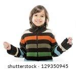portrait of happy joyful little ... | Shutterstock . vector #129350945