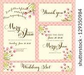 wedding invitation  thank you... | Shutterstock .eps vector #129350984