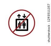 no lift icon vector. no... | Shutterstock .eps vector #1293511357