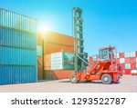 container terminal. freight... | Shutterstock . vector #1293522787