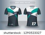 football jersey design template.... | Shutterstock .eps vector #1293523327