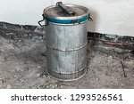 old metal barrel with an... | Shutterstock . vector #1293526561