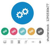 collaboration flat white icons... | Shutterstock .eps vector #1293530677