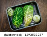 meat wrapped in cabbage leaves...   Shutterstock . vector #1293533287