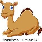 cartoon funny camel sitting | Shutterstock .eps vector #1293535657