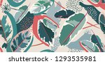 modern floral pattern. colorful ... | Shutterstock .eps vector #1293535981