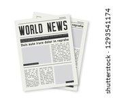 newspaper journal vector... | Shutterstock .eps vector #1293541174