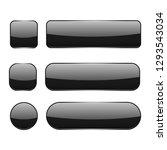 black glass buttons. web 3d... | Shutterstock .eps vector #1293543034