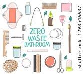 zero waste bathroom set. no...   Shutterstock .eps vector #1293546637