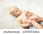 infant nappy change and skin... | Shutterstock . vector #1293551461