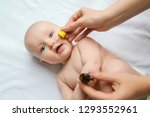 mom drops her nose to a newborn ... | Shutterstock . vector #1293552961