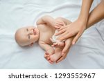 mother cleaning up and wipes... | Shutterstock . vector #1293552967