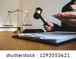 lawyer working with contract... | Shutterstock . vector #1293553621