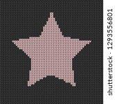 black background pink stars... | Shutterstock .eps vector #1293556801