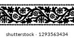 woodblock printed seamless... | Shutterstock .eps vector #1293563434